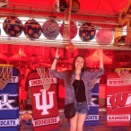 While at the Houston Rodeo this year, Alex Daily came across this Indiana University banner. She knew she wouldn't be a good Hoosier if she didn't stop to show her IU pride.