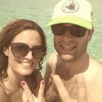 "Buzz Associate Editor Annie McQueen celebrates with husband Tyler on their recent ""babymoon."""