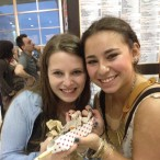 Pictured (from left) are Kayla Roseman, from Houston, and her friend Samantha Pine, from New Jersey, enjoying a unique Houston rodeo dish.