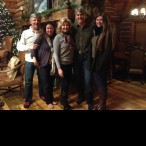 (From left) Brittney and Max Tribble with Susan, Mike and Kendall Plank at the Plank home in Telluride.