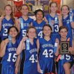 Spring Branch Middle School girls 8B basketball team