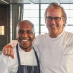 Elliott Kelly and Chef Robert Del Grande