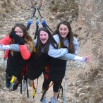 Students on the super swing