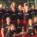 Pershing Middle School softball team