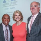 Mayor Sylvester Turner with chairs Kim and Dan Tutcher