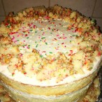 Layered Funfetti Cake made by Hailey Caress