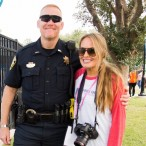 Bellaire Police Lieutenant Jeff Cotton and Kristi Coffey