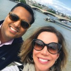 Roseann Rogers and husband Aashish Shah