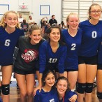 Pin Oak Middle School's eighth-grade volleyball team