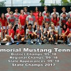 Memorial High School 2019-2020 tennis team
