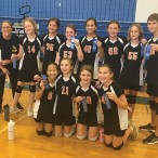 Memorial Middle School seventh-grade Yellow volleyball team