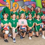 St. Anne Catholic School junior varsity volleyball team