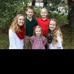 Christmas fun with cousins! Madelyn Montgomery, Braden George, Katherine George, Luke George and Emma Montgomery.