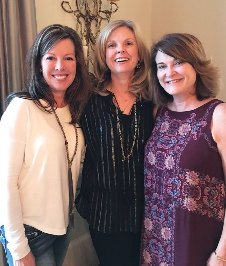June Reeder, Paula Hunt and Tracy Peddie