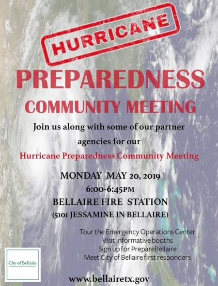 City of Bellaire's Hurricane Preparedness Meeting