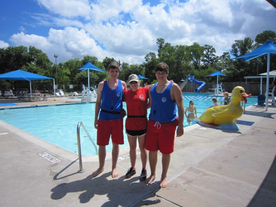 Joseph Schaefer, Karoline Hight, and Josh Tillery have grown together through their jobs as lifeguards.