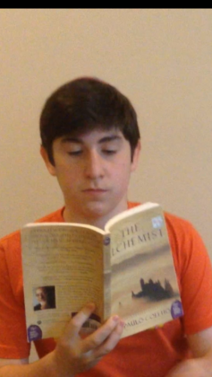 Adam Hoffman, a freshman at Robert M. Beren Academy, prepared for Pre-AP English by reading The Alchemist.