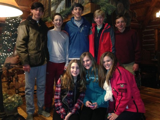 It really is a small town. Kids from Houston often go from house to house in Telluride, which isn't always so easy in Houston. Pictured at the Plank's home are (top row, from left) Michael Imik, Thomas McNeill, Jared Plank, Colin Lawrence, Sawyer Hamm, (b
