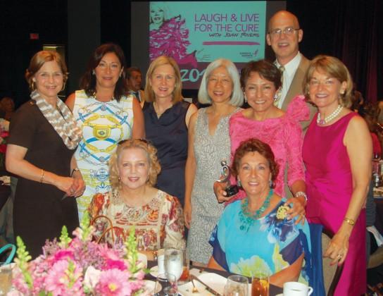 Jeannie Frazier, Nadine Eidman, Margaret Pfeiffer, G.G. Hsieh, Lourdes Hernandez, Allen Wilson, Dorothy Paterson, (seated, from left) Karen Funk and Arza Funk