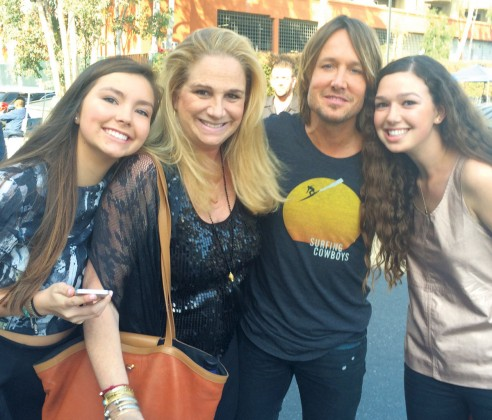 Avery Myers, Jill Klaff, Keith Urban and Katie Estelle Klaff