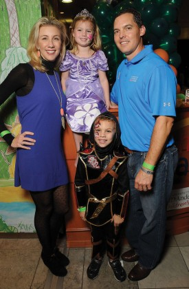 Cathy and David Herr, along with their little ghoul Lauren, 4, and boy Hudson, 6