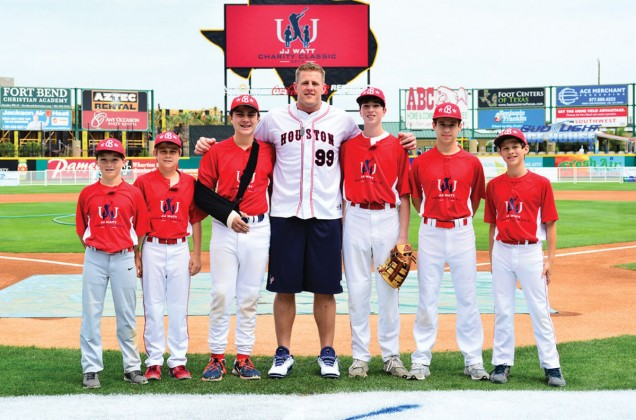 Spencer Scheps, Walker Whitney, Brennan Hoffman, J.J. Watt, Jared Edelman, Jacob Towber and Collin Lore