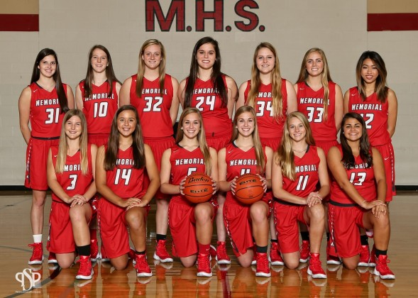 Memorial Mustangs Girls Varsity Basketball team