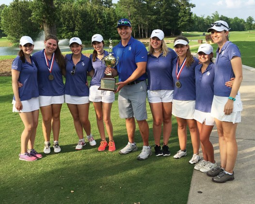 The Episcopal girls golf team