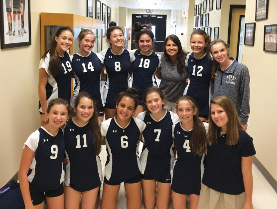 Emery/Weiner School eighth-grade blue volleyball team