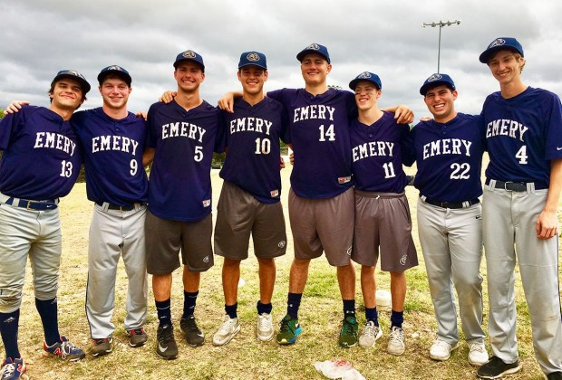 Seniors on the Emery baseball team