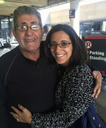 Rania Mankarious with her father