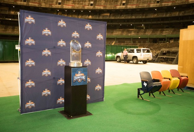 Houston Astros World Series trophy