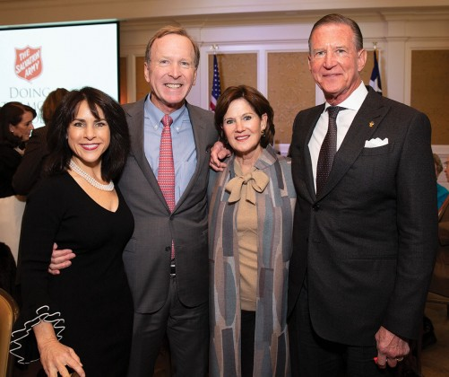 Maria and Neil Bush and Judy and Charles Tate