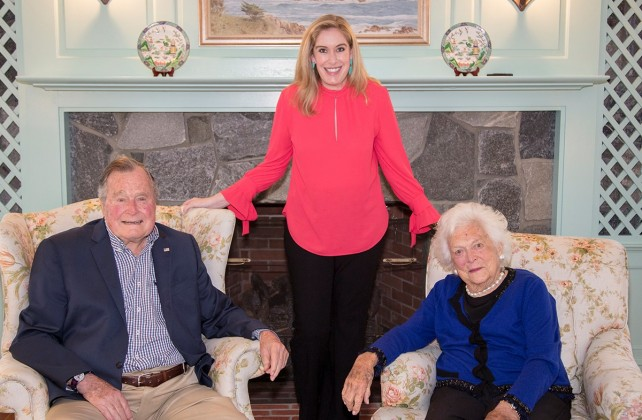 Stephanie Linder, George H.W. Bush, Barbara Bush