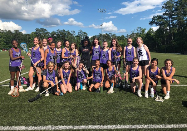 Lanier Mighty Pups/HYLAX girls' lacrosse team