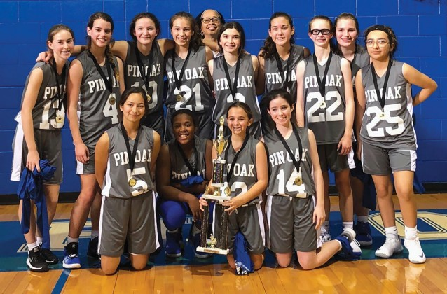 Pin Oak Middle School's eighth-grade girls basketball team