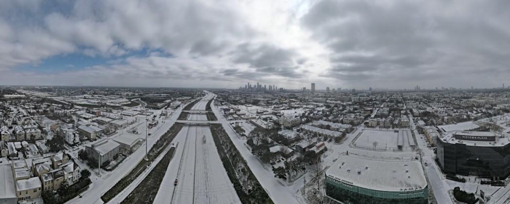 A rare site for Houston