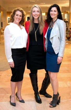 Neiman Marcus Stiletto Strut and Luncheon chairs (from left) Shelly Smith Hendry, Megan Hotze and Limor Smith. (Photo: Jacob Power)