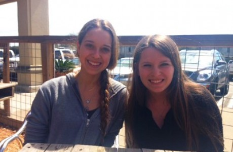 Buzz interns Melissa Darlow and Kayla Roseman at a celebratory wrap-up lunch.