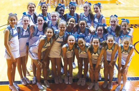 Pin Oak Middle School cheerleaders
