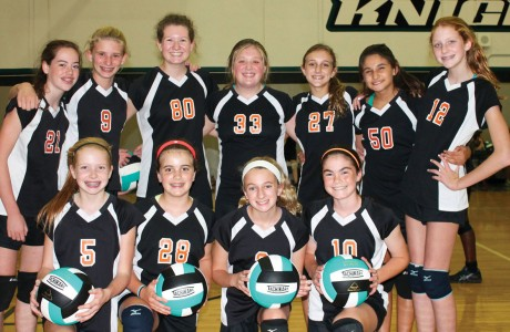Memorial Middle School volleyball