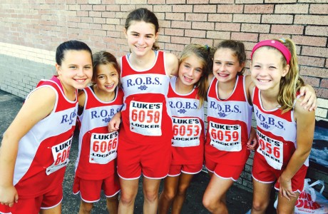 River Oaks Baptist School cross country team