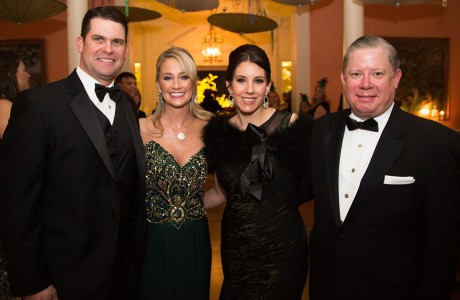 "Kevin Comiskey, Charity Ball Chairman Amy Dunn, President Mary Margaret ""Mimi"" Foerster and Jarrod Foerster"