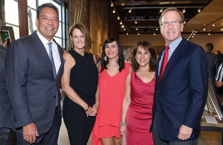 Frank and Stephanie Tsuru, Sarah Golshadi and Maria and Neil Bush