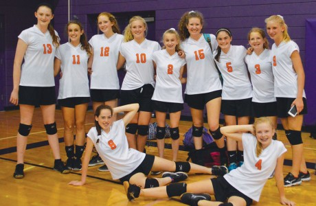Memorial Middle School eighth-grade Volleyball A team