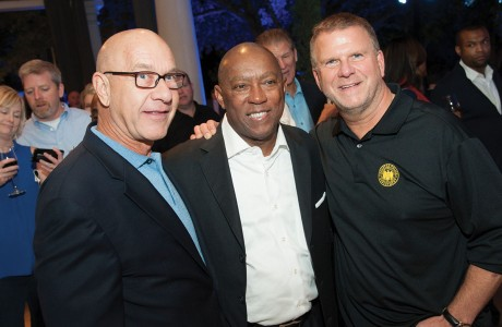Texas Sen. John Whitmire, Mayor Sylvester Turner, Tilman Fertitta