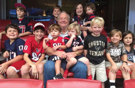 Charlie Hartland and his grandkids