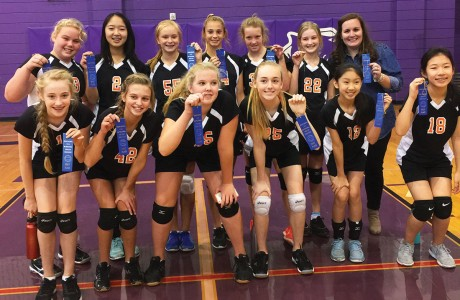 Memorial Middle School 7A volleyball team