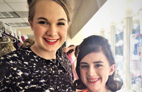 Jenna Bobbora and Lauren Dodds in Hairspray