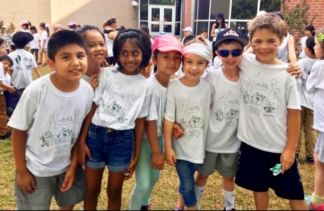 Condit first graders at field day